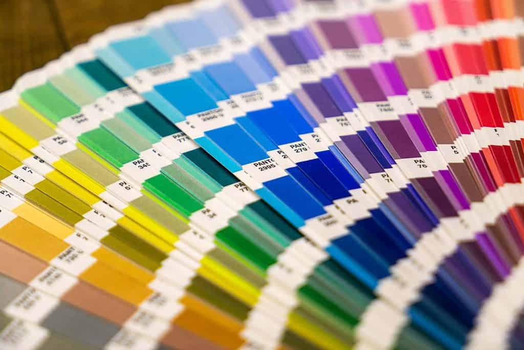 des bandes de couleur