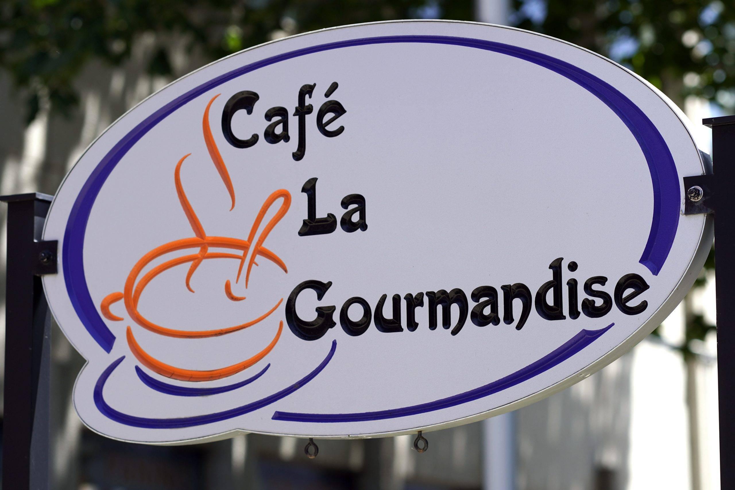 Enseigne du café La Gourmandise du Centre François-Michelle